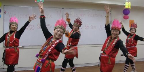 seniors line dancing